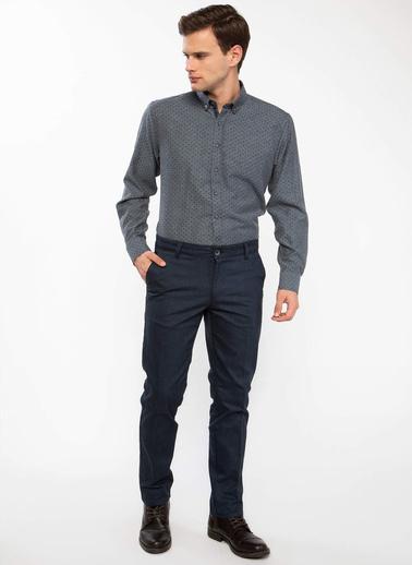 DeFacto Paco Regular Fit Chino Pantolon Lacivert